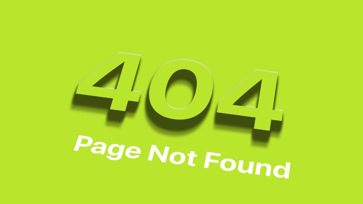 CSSで文字に3Dエフェクトをかけた404ページ